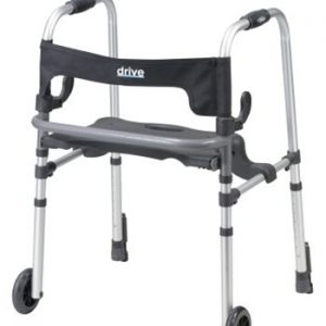 Clever Lite LS Walker with Seat and Push Down Brakes