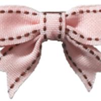Abby - Top Stitch Baby Bow® w/Tails by No Slippy Hair Clippy