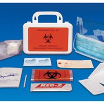 Biohazard Spill Kit, Universal, with Plastic Case