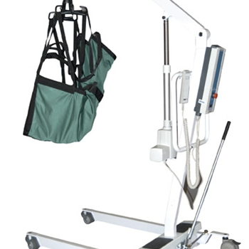 Bariatric Powered Patient Lift with Rechargeable Removable Battery