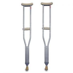 MedPro Push Button Aluminum Crutches