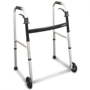 Aluminum Folding Walker with Paddle Release by Airgo