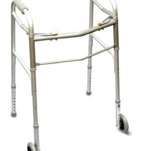 Two Touch Folding Walker with wheels