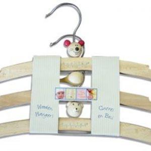 Kushies Wooden Hangers 3pk